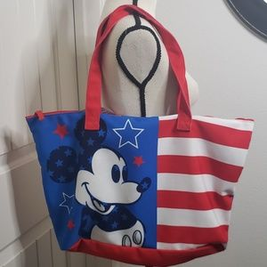 Mickey mouse  Disneyland red white and blue tote